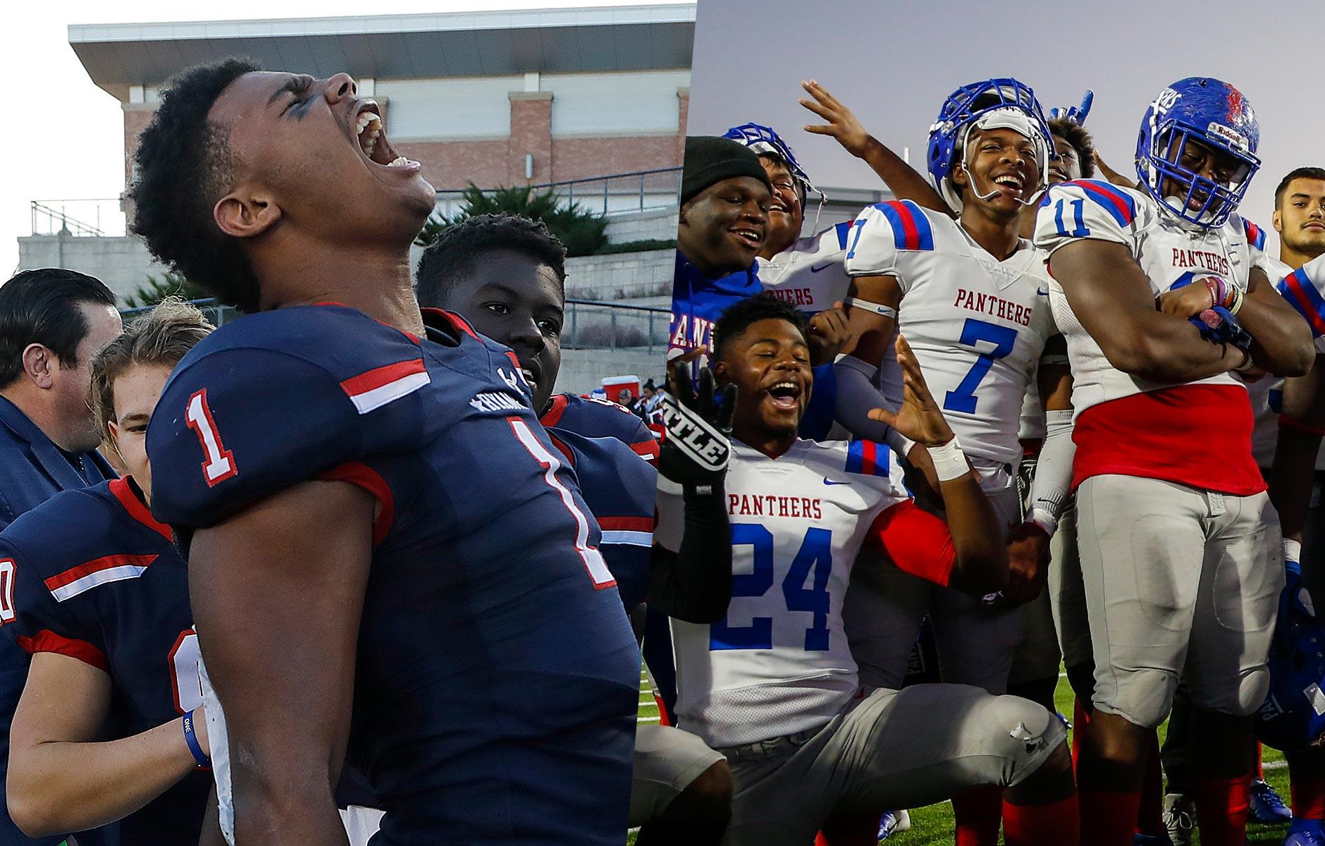 State semifinal round of Texas high school football playoffs.