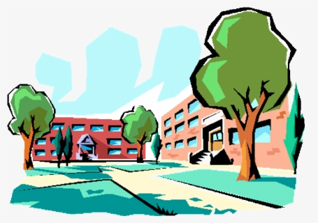 Free School Buildings Clip Art with No Background , Page 3.