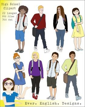 High School Student Clip Art {Pack 1}.