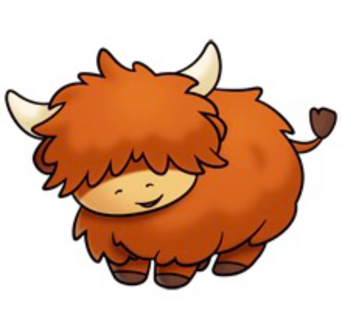 Scottish Highland Cow Clipart.