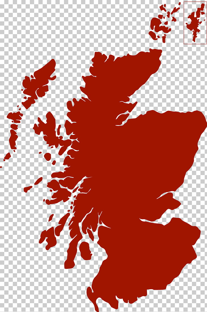 Scotland Map, Scottish Highlands PNG clipart.
