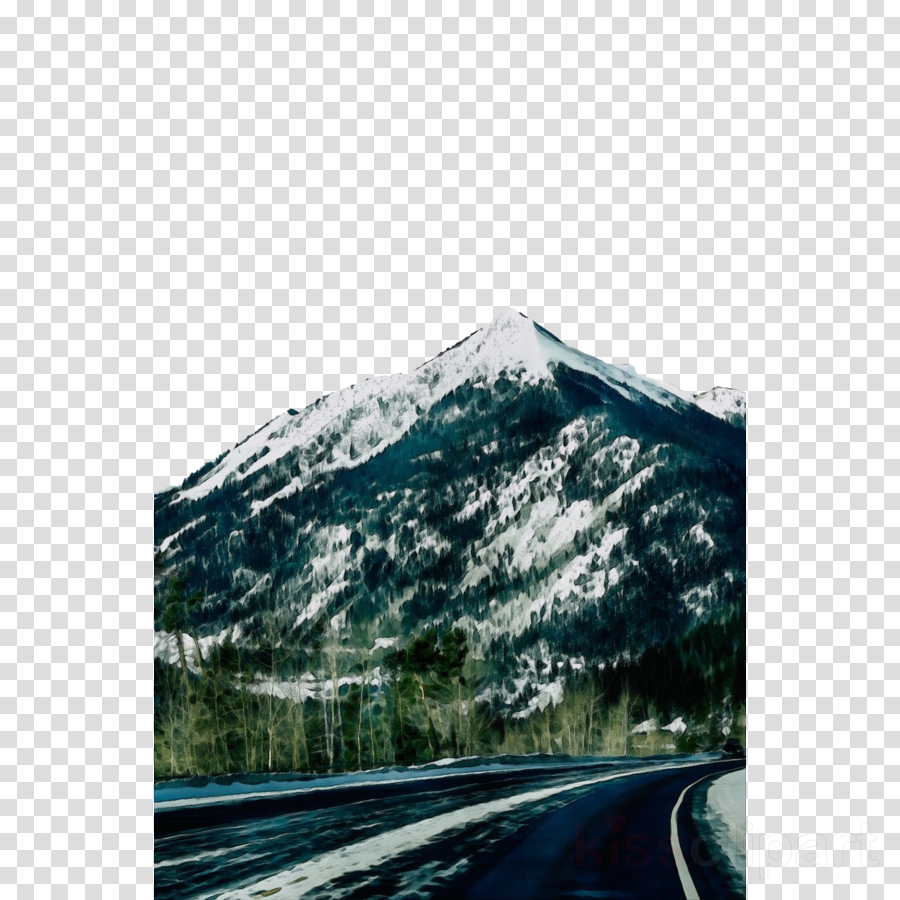 mountainous landforms road mountain highway highland clipart.