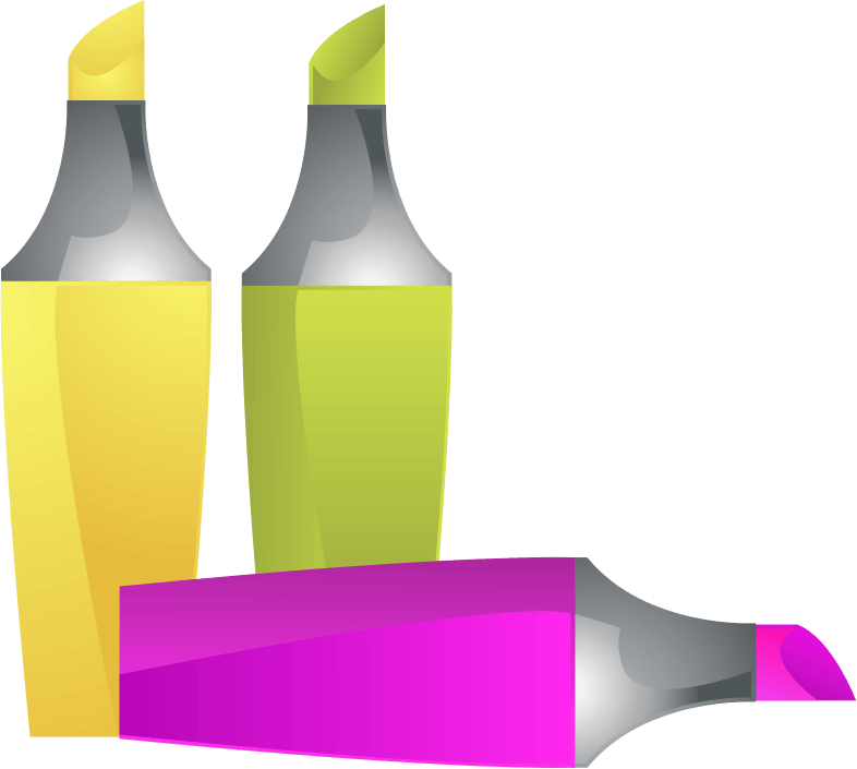 Free to Use Public Domain Highlighter Clip Art.