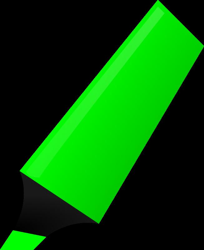 Free Clipart: Green Highlighter.