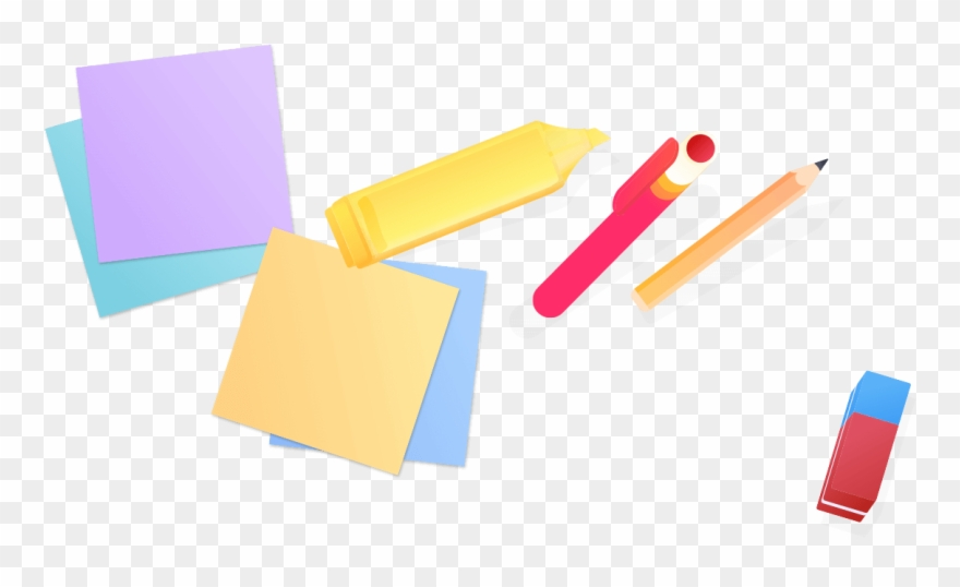 Sticky Notes And Highlights Clipart (#2989071).