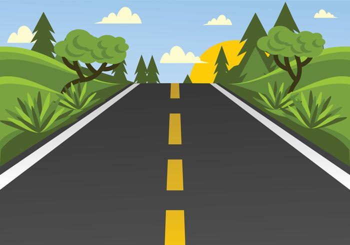 Highway Vector Illustration.