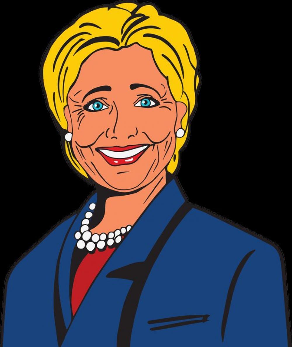 Hillary Clinton Vector Clipart free photo.