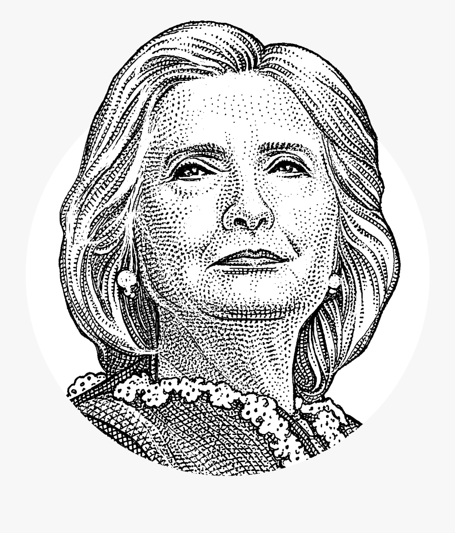 Clip Art Hillary Clinton Drawing.