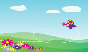 Hillside With Flowers Long Clip Art at Clker.com.