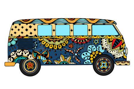 Hippie Van Clipart.