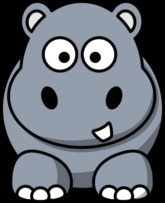 Free Clipart: Cartoon hippo.