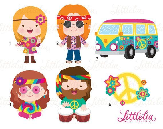Hippie clipart hippy, Hippie hippy Transparent FREE for.