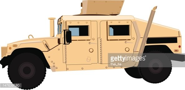 Tan Humvee (HMMWV) Side.