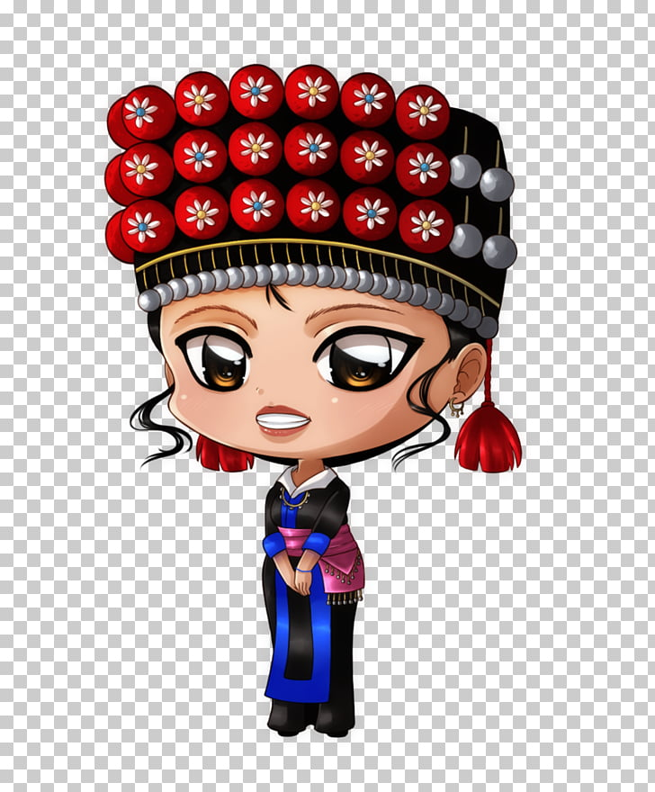 Cartoon Figurine Character Fiction, hmong PNG clipart.