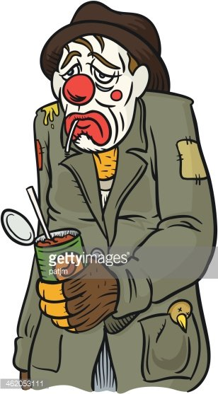 Hobo With Beans Clipart Image.