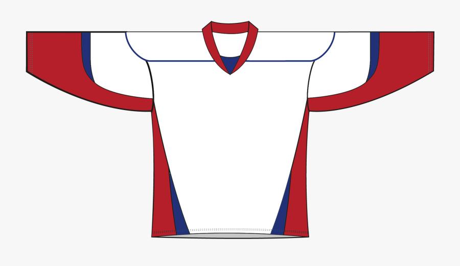 Blue White Red Custom Hockey Jersey , Free Transparent.
