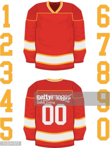 Hockey Jersey Clipart Image.