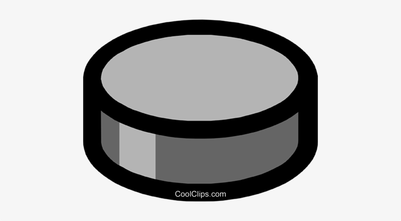 Hockey Puck Royalty Free Vector Clip Art Illustration.