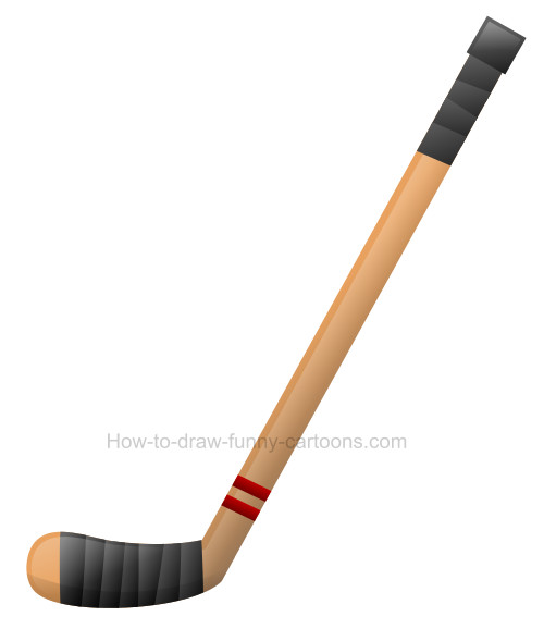 How to draw a hockey stick clip art.