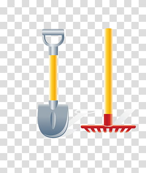 Gardening Garden tool Rake, Cartoon hoeing tools transparent.