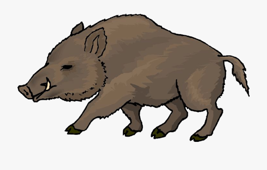 Hunter Clipart Boar.