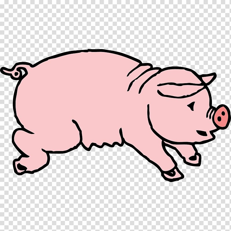 Domestic pig Boar hunting Free content , Cartoon Hog.