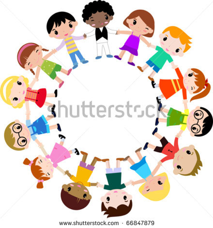 Kids Holding Hands In Circle Clipart.