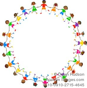 Circle Holding Hands Clip Art.