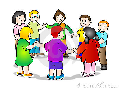 Children Holding Hands In A Circle Clipart.