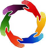 Holding Hands Circle Clip Art.