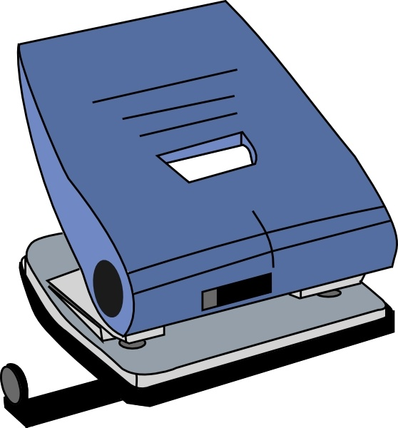 Hole Puncher clip art Free vector in Open office drawing svg.