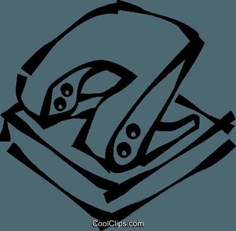 hole punch Royalty Free Vector Clip Art illustration.