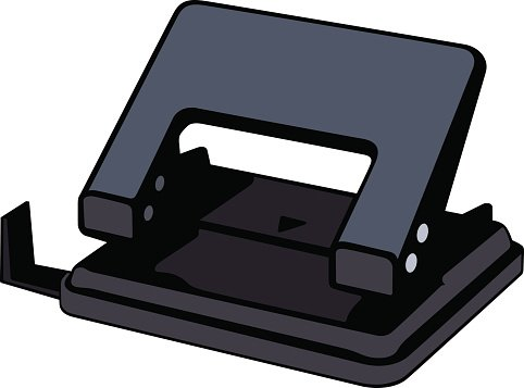Hole puncher Clipart Image.