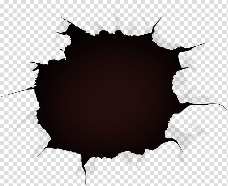 Paper , Black hole, crack transparent background PNG clipart.