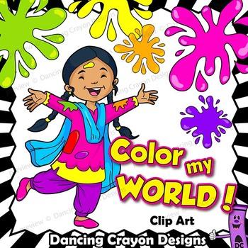 Color Kids Clip Art.