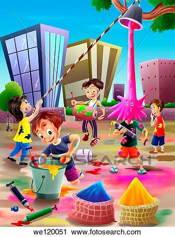 Holi festival clipart 6 » Clipart Station.