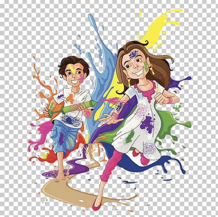 Holi Festival Social Media Wish PNG, Clipart, Art, Fairy.