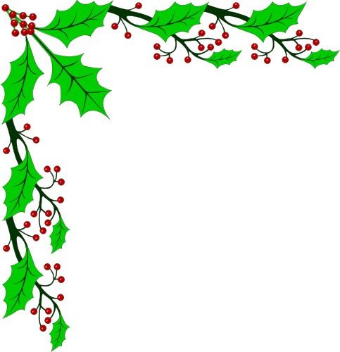 clipart holiday page borders