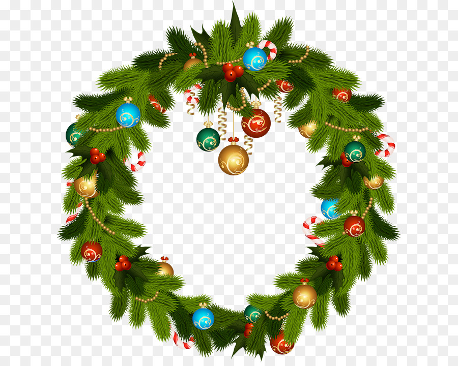 Christmas Wreath Illustration clipart.