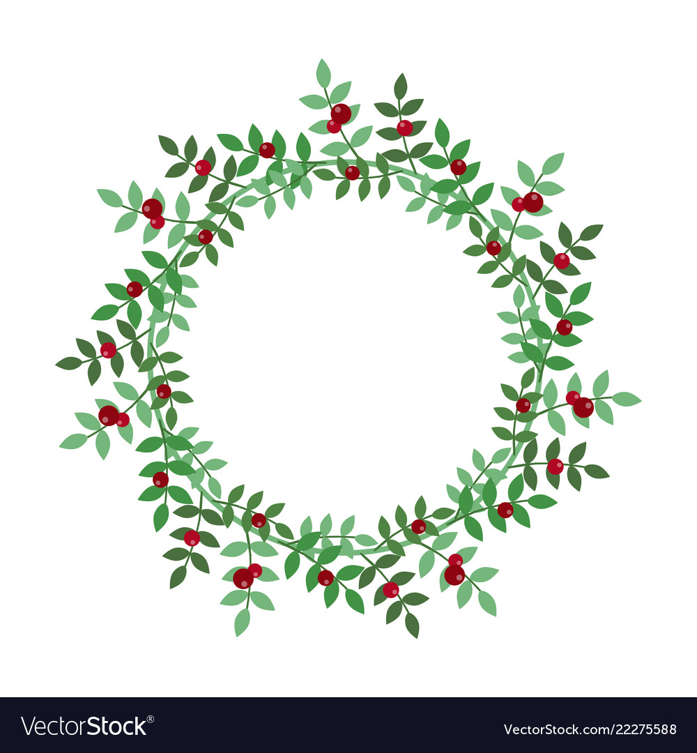 Christmas holiday wreath icon.