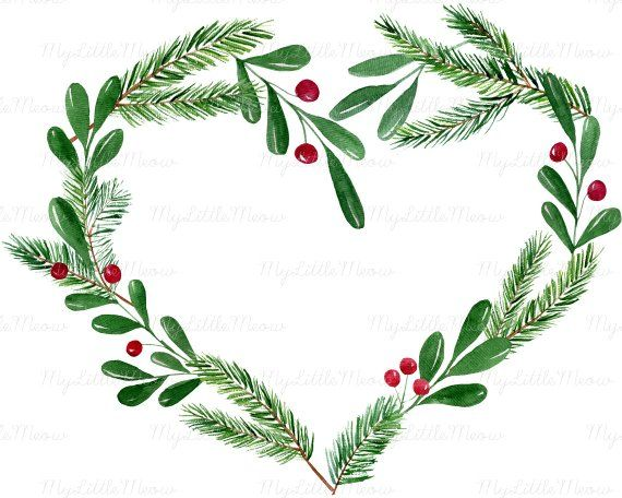 Winter wreath clipart.