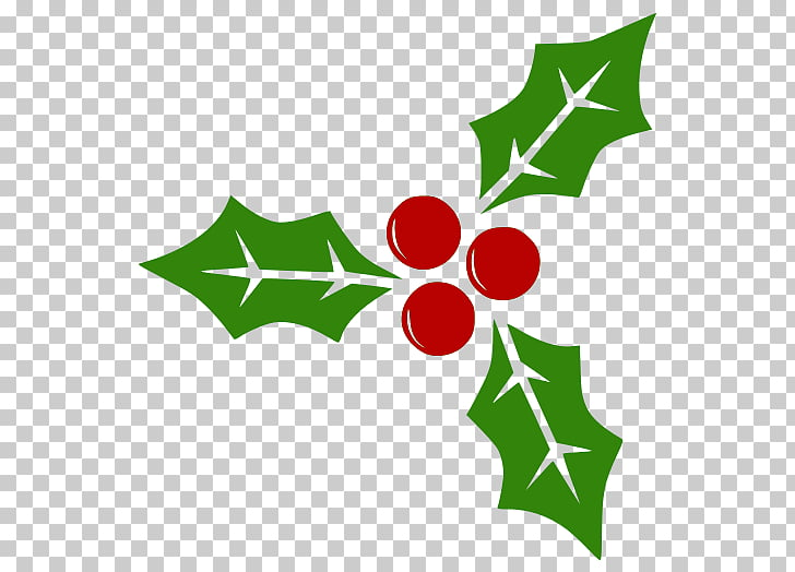 Berry , holly leaf PNG clipart.
