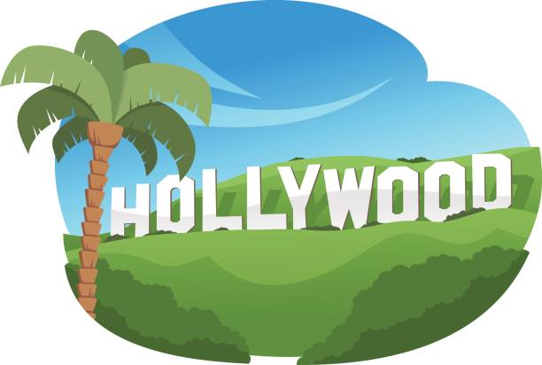 118 Hollywood Sign free clipart.
