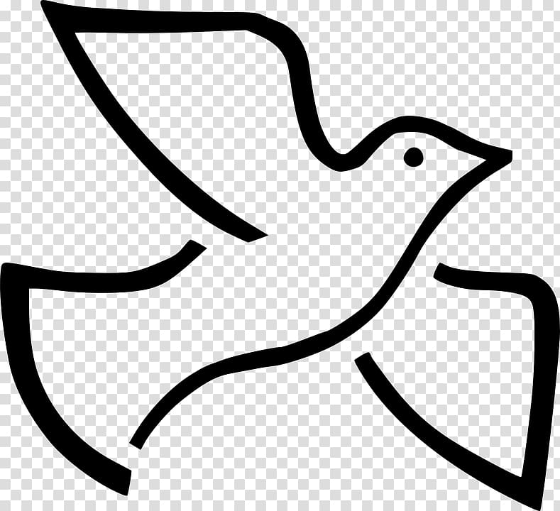Black pigeon logo, Columbidae Doves as symbols Holy Spirit.