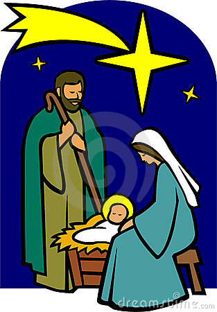 Clipart Christmas Holy Family.