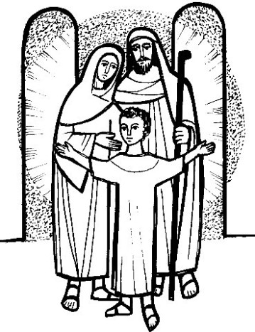 Similiar Holy Family Clip Art Black And White Keywords.