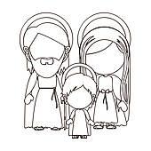 Holy Family Clip Art.