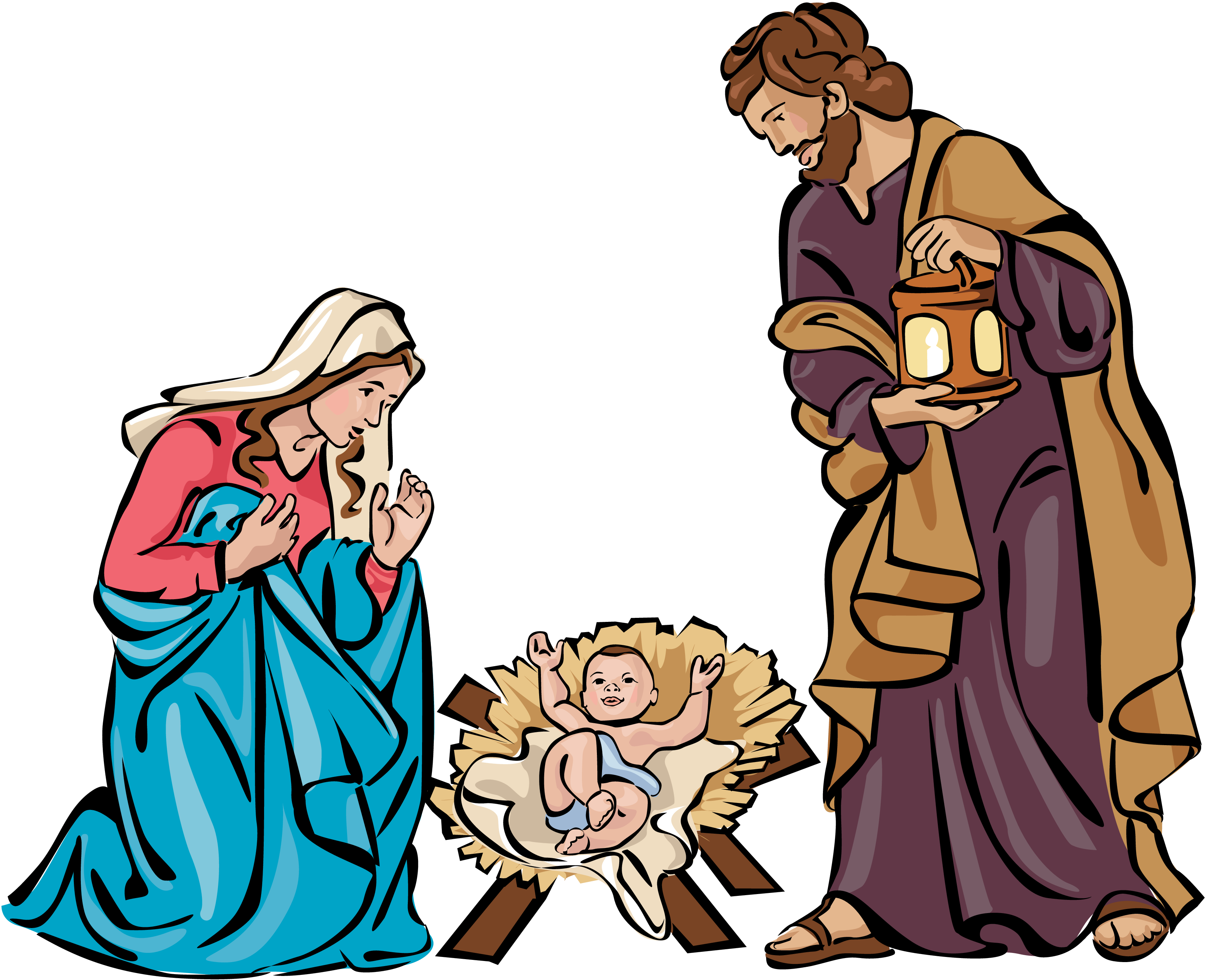 The Holy Family Clipart.
