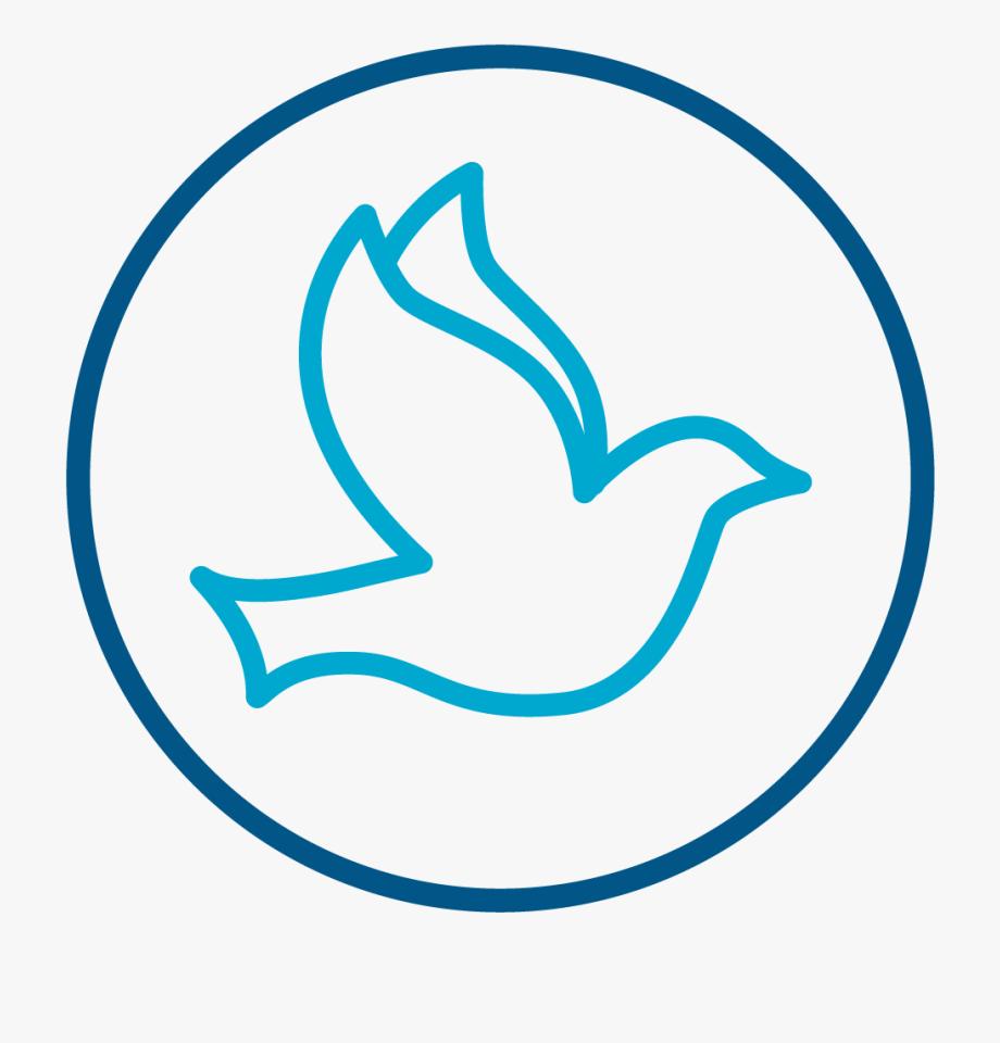 Dove Icon Symbolizing The Holy Spirit.