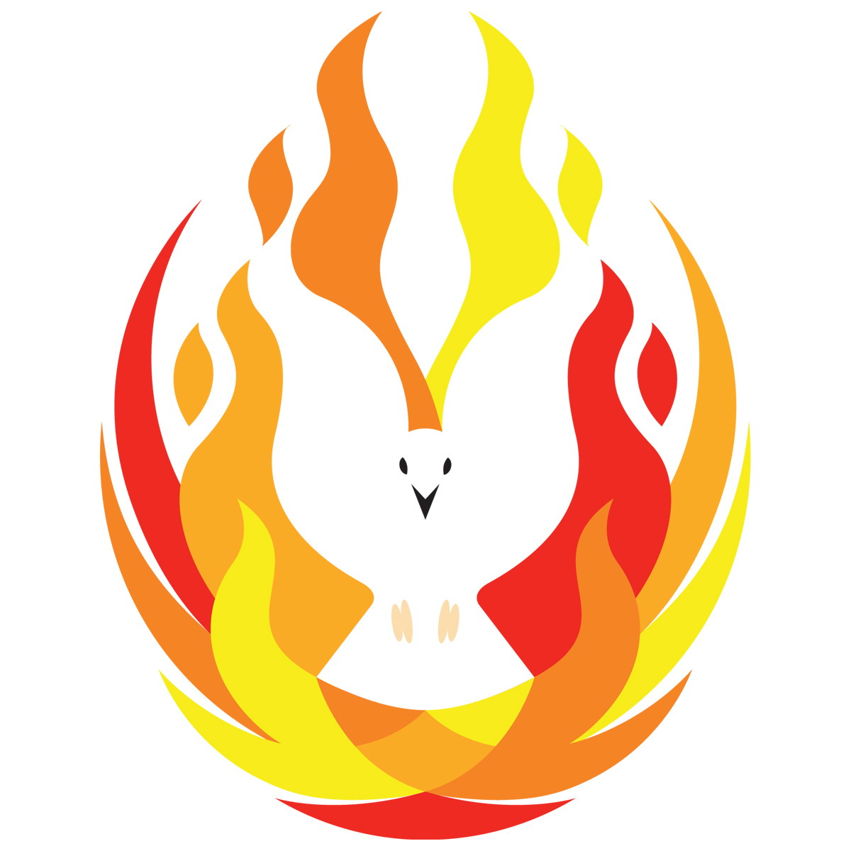 Holy Spirit Flame Dove images pictures.
